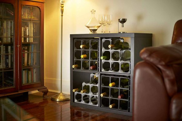 Stakrax Wine Racks 12 Bottle Kit - Black