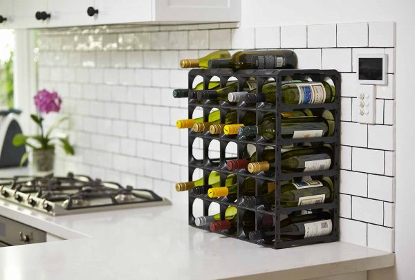 Stakrax Wine Racks 30 Bottle Kit - Black