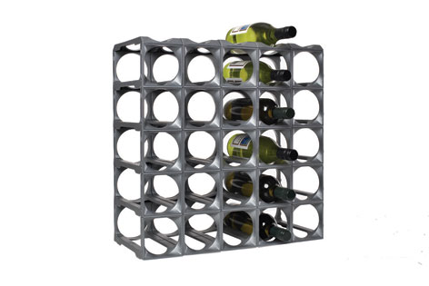 Stakrax Wine Racks 30 Bottle Kit - Silver