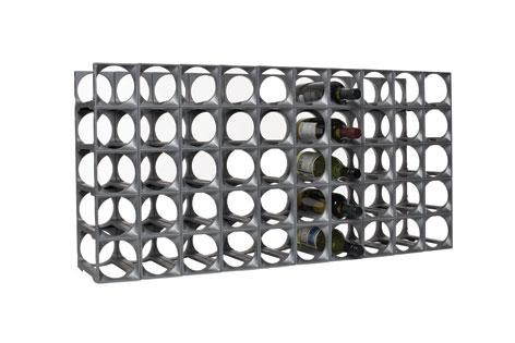 Stakrax Wine Racks 50 Module Kit - Silver